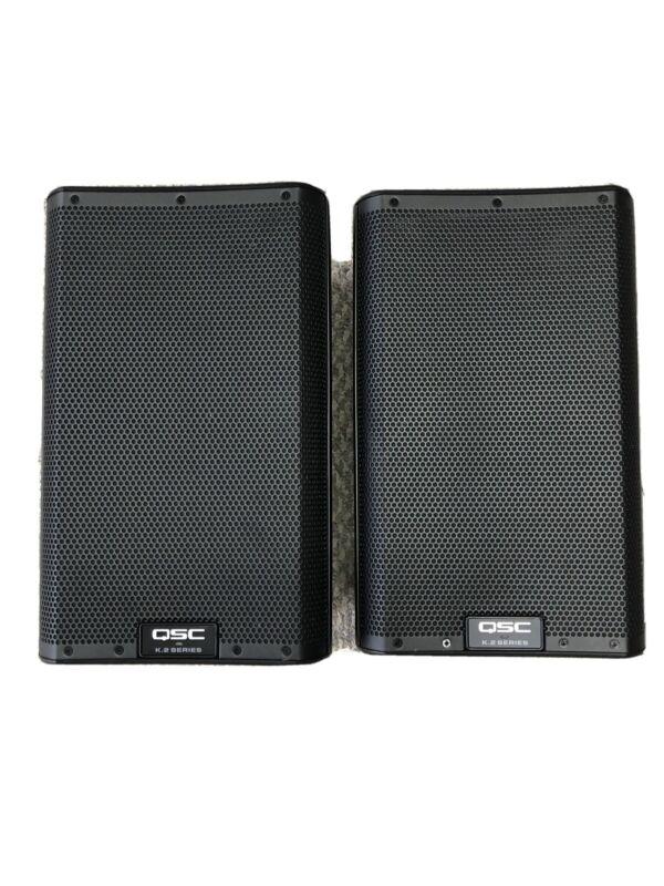 """QSC K8.2 K2 Series 8"""" Two-Way 2000W Powered DJ PA Loudspeakers Pair"""