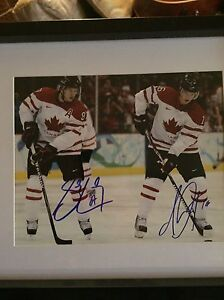 Sidney Crosby and Jonathan Toews dual autographed 8x10 Cambridge Kitchener Area image 1