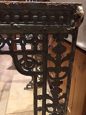 Antique Victorian Cast Iron Sink Bracket Stand, Beautiful Ornate Detail