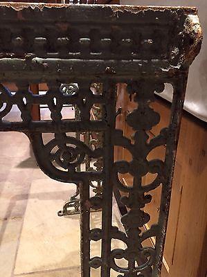 Antique Victorian Cast Iron Sink Bracket Stand, Beautiful Ornate Detail