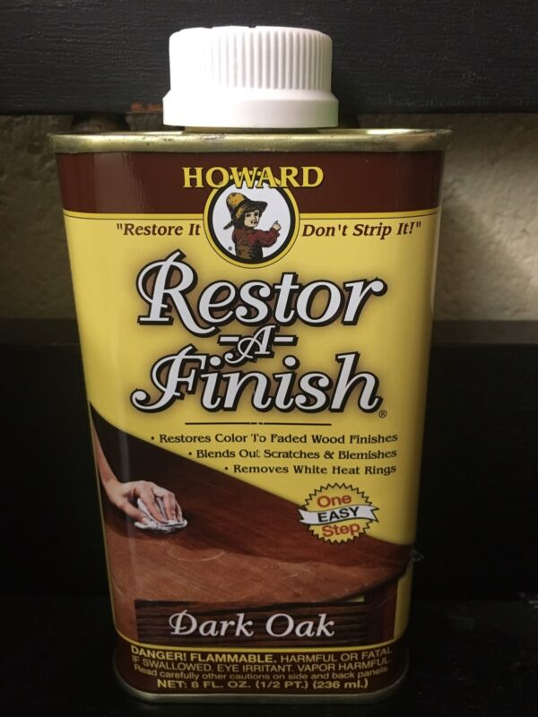 NEW HOWARD RESTOR-A-FINISH Dark Oak Wood Furniture Restorer 8 oz