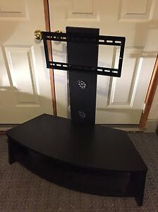 Tv stand - black - with hardware/brackets