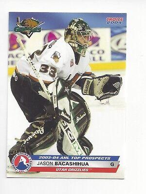 2003-04 AHL Top Prospects #19 Jason Bacashihua (Deggendorfer SC), usado segunda mano  Embacar hacia Argentina