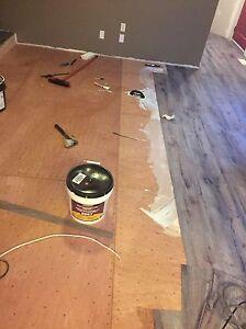 PHardwood, laminated, engineers, vinyl flooring installing  Edmonton Edmonton Area image 8