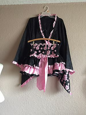 leg avenue Japanese Geisha Oriental Kimono 3 Piece Chinese Costume S for sale  Shipping to Canada
