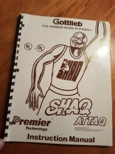 SHAQ ATTAQ  pinball manual