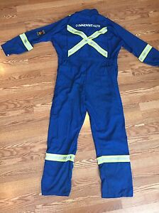 FR coveralls with reflective stripes