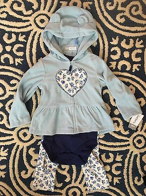 Carters Baby Girl 24 Month 2T 3-piece Outfit