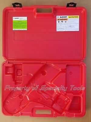 Burndy Patcut245cual Hydraulic Battery Cutter Cable Cutting Tool Carrying Case