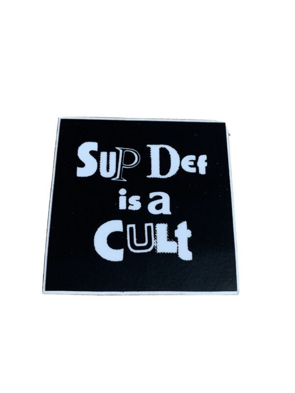 Supdef is a Cult Sticker New New