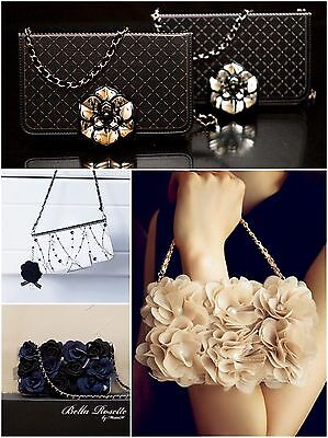 Magnetic Flip iPhone Case Party Pearl Lace Flower Card Slots Chain Wallet Purse Pearl Flip Case