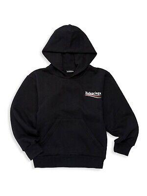 2020 Bernie Campaign Logo Kids Balenciaga Hoodie Black Size 8 NWT