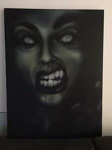 Gothic emo dark scary zombie vampire type canvas painting North Sydney North Sydney Area Preview