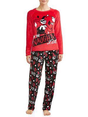 Harley Quinn Pajamas Womens Plus Size 2X Batman Winter Fleece Top/Pants XXL NEW  ()