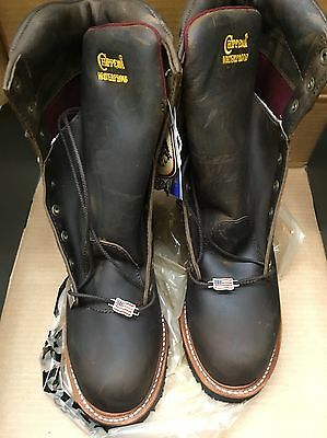 "Men's Chippewa 25407 9"" Bay Apache Logger 11 EEE Waterproof Steel Toe USA"