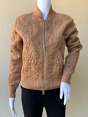 Alexander McQueen Stretch wool blend Jacquard textured Jacket in Beige, Size XS