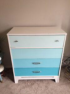 Retro Light Blue Ombré Dresser