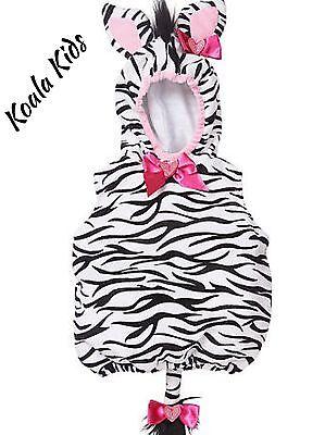 NWT Koala Kids GIRLS ZEBRA PLUSH COSTUME Or DRESS UP TODDLER Size 6 ~ 24 Months (Zebra Toddler Costume)