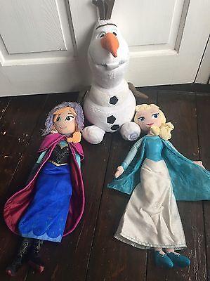 Frozen Elsa Anna & Olaf Soft Toys segunda mano  Embacar hacia Mexico
