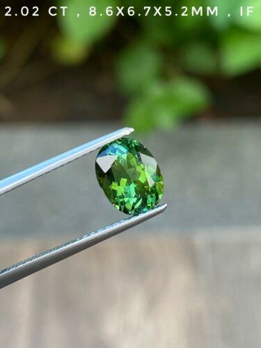 2.02 ct  IF Clarity Natural Untreated Bluish Green Tourmaline from brazil