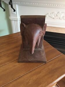 Antique Solid Wood Hand Carved Elephant Book End Kingston Kingston Area image 2