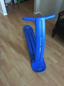 Big blue snow scooter
