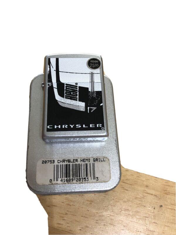 "zippo lighter""Chrysler Hemmi Grill""-2004-no Lid"