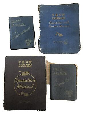 Thew Lorain Operation Manuals Handbook Lot 1940s Shovel Crain Lot Of 4