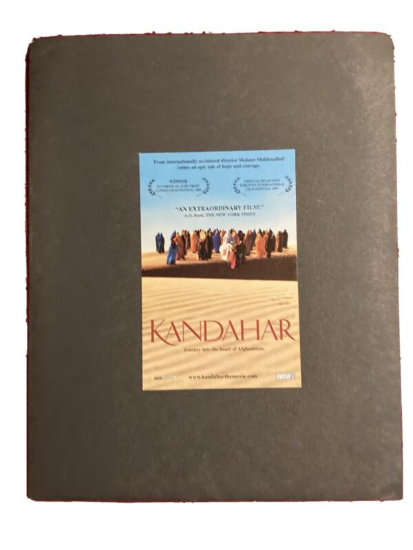 Kandahar Movie Pressbook And Production Notes 2001 Mohsen Makhmalbaf