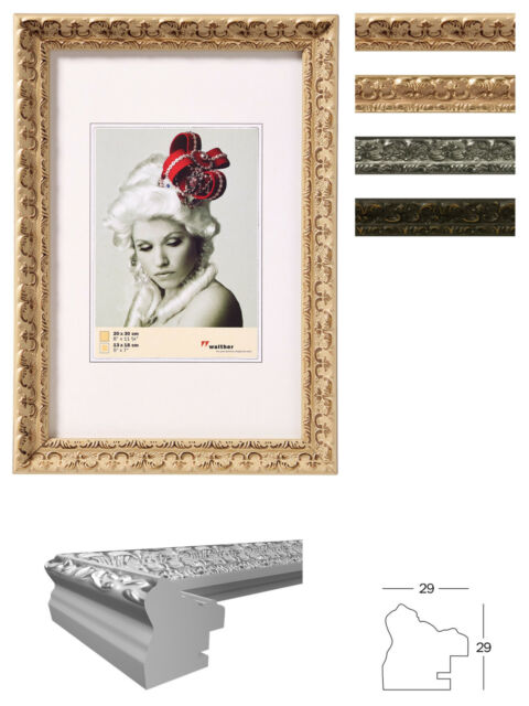 "Bilderrahmen Holz Rahmen Barock "" Rokoko "" 13x18 15x20 20x30 30x40 Gold silber ."