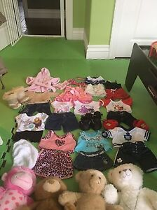 Lots of build a bear outfits and bears selling individually