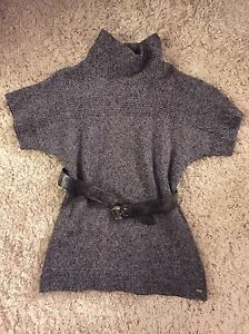 Columbia sweater and Mexx leather belt