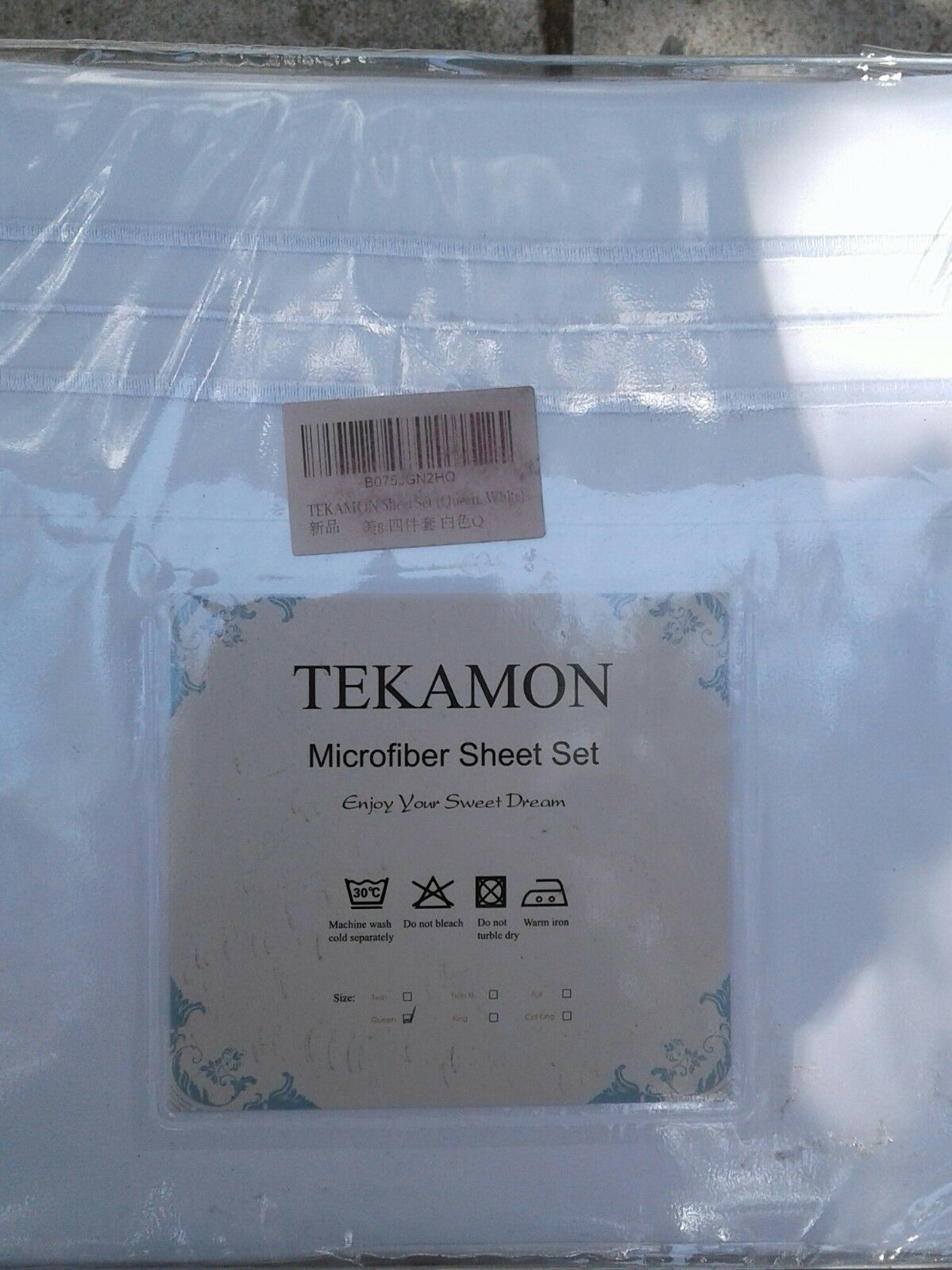 Tekamon Microfiber Sheet Set  Queen