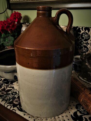 Antique English Stoneware Flagon Jug