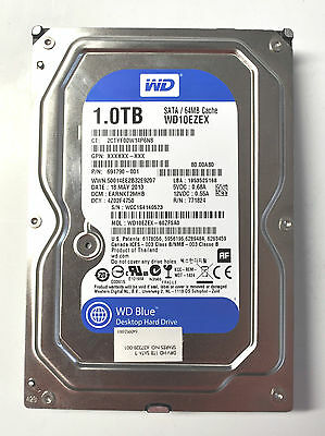 1TB Western Digital Blue HDD BJ: 2014, Modell WD10EZEX 64MB 3.5