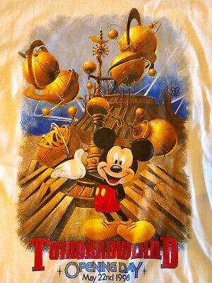 Disneyland Tomorrowland Opening Day 1998 T-Shirt XL New With Tags