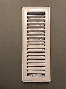 Floor Diffusers - Vent Covers - White Metal - 16 Available