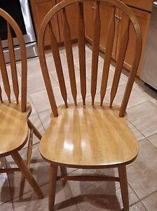 Wood chairs Cambridge Kitchener Area image 1