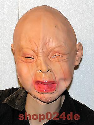 Halloween Horror Latex Maske Fasching Karneval Ganzkopfmaske Devil Horror-Baby  (Baby Maske Halloween)