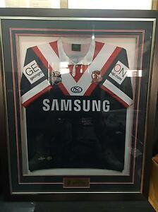 2009 Sydney Roosters Jersey Signed & Framed Jannali Sutherland Area Preview