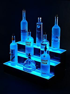 Armana Acrylic New 36 3 Tire Step Led Lighted Liquor Bottle Display Stand