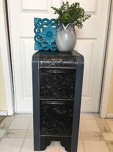 Solid wood WATERFALL decorative end table