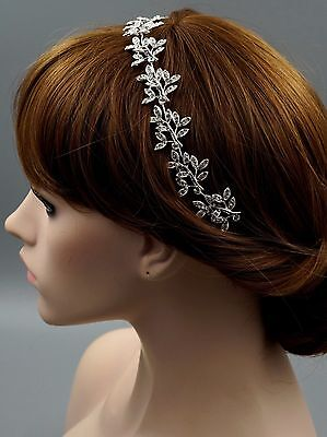 Bridal Jewelry Accessories Wedding Headpiece Crystal Headband Hair Pin Tiara 81S