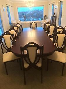 10 seat adjustable timber diner table Yowie Bay Sutherland Area Preview