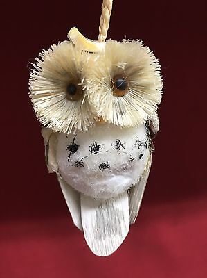 Hand Crafted Owl Christmas Holiday Tree Ornament