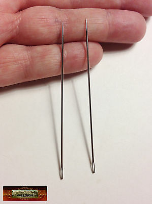"M01134 MOREZMORE 2 Sewing Needles 3"" Long Doll Bear Upholstery Leather A60"