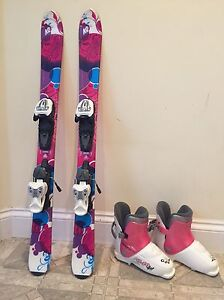 K2 girls skiis size 100 and ski boots 251 mm