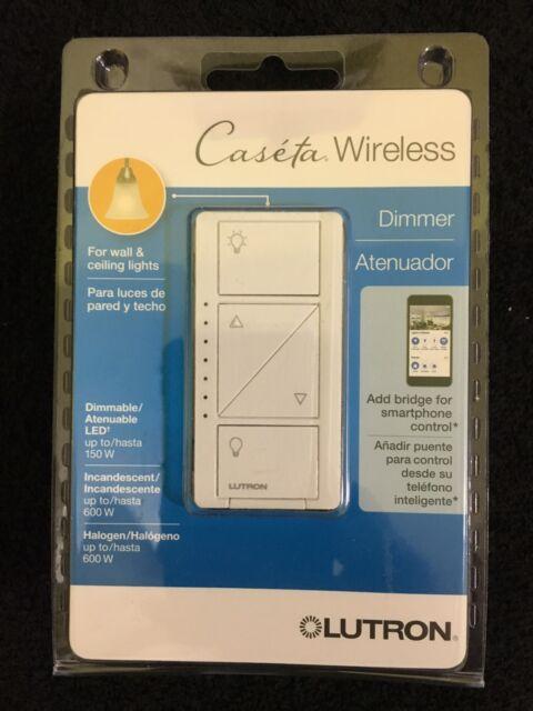 Lutron Caseta Wireless 150-Watt Single Pole Wall Dimmer - White ...