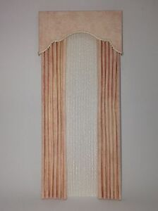 Nice Light Pink Dollhouse Curtains W/ Satiny Sheers  1:12 Scale