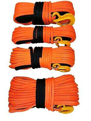 12mm - 15mm Orange Synthetic winch rope Dyneema SK75 choose diameter and length